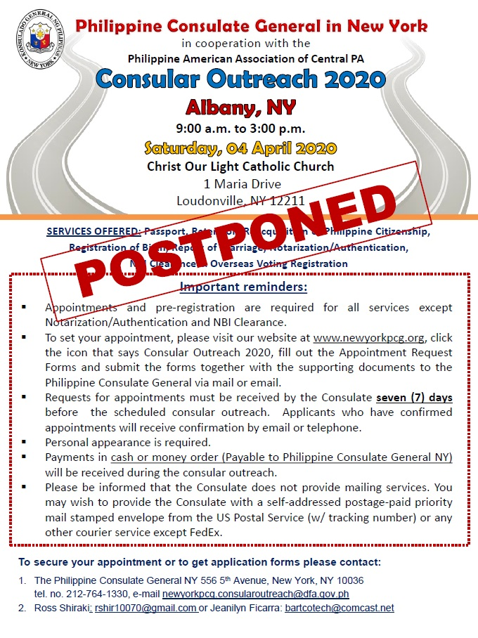 Consular Out reach Albany Flyers